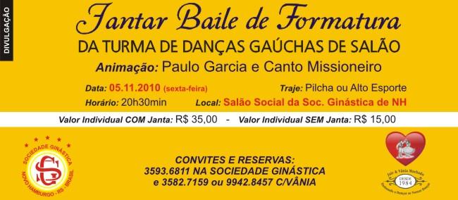 Jantar Baile De Formatura Da Turma De Danças Gaúchas De Salão