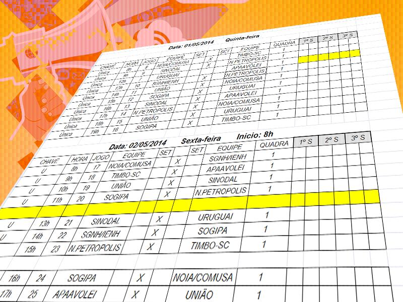 c557dbf7b0 17º FESTIVAL MERCOSUL DE VOLEIBOL – Tabelas de jogos