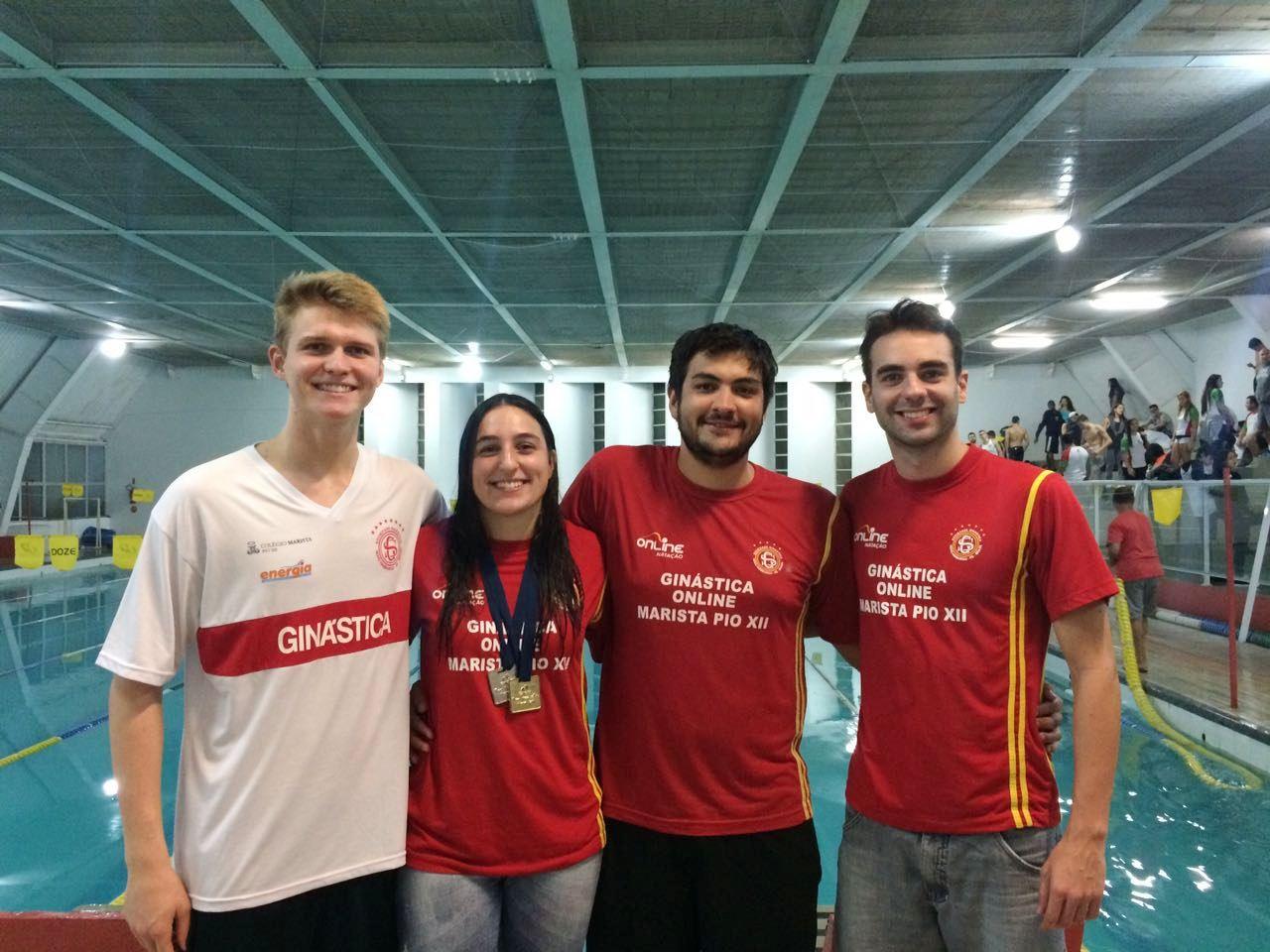 Nadadores da Ginástica/Pio XII participam de Sul Brasileiro