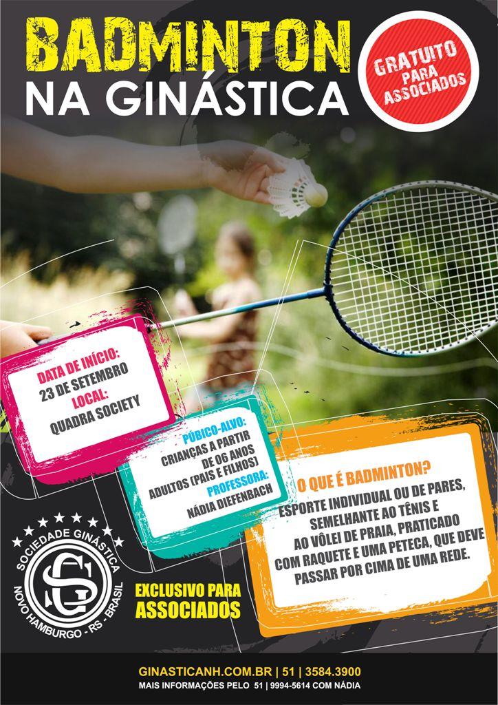 Badminton gratuito para associado