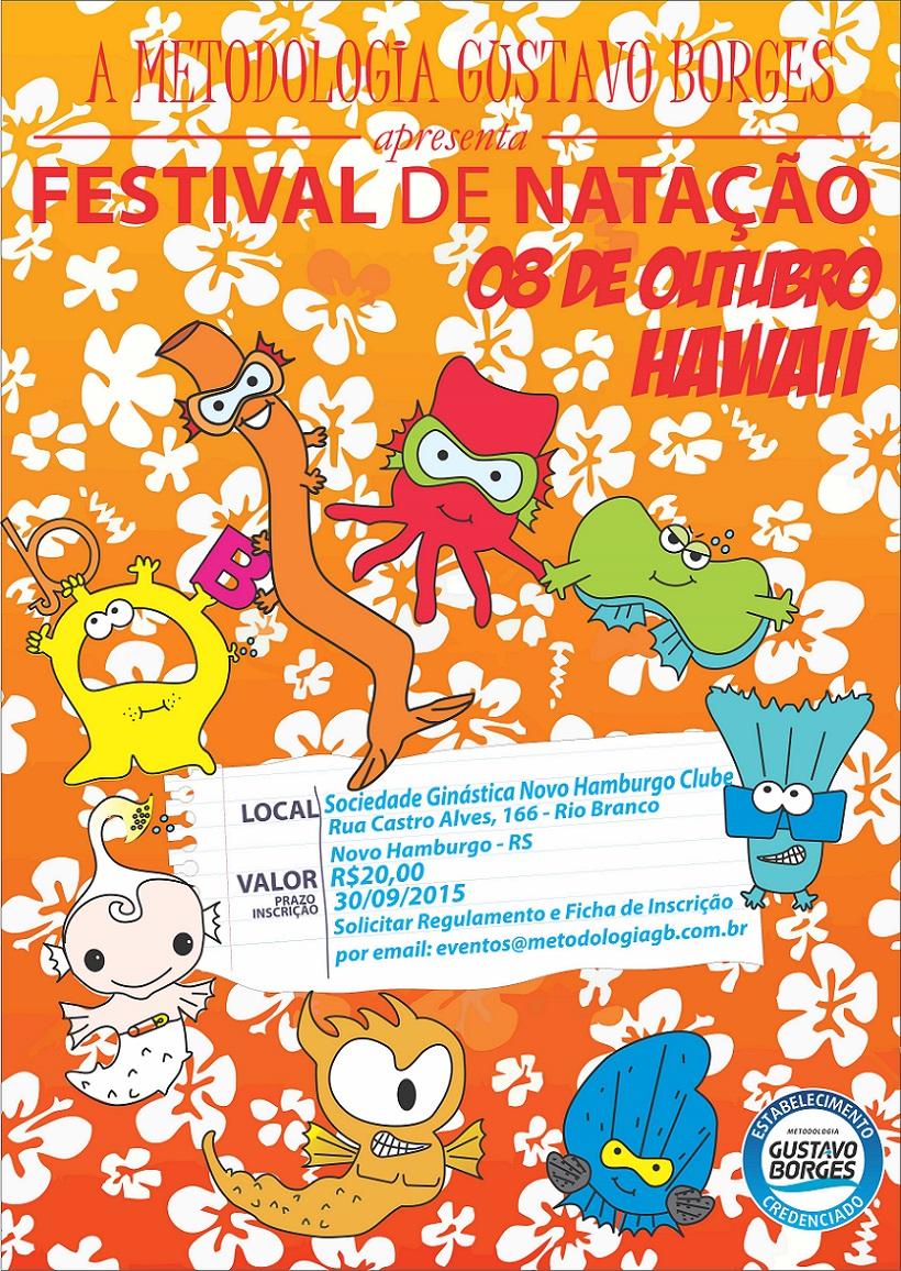 Festival de Natação em clima havaiano