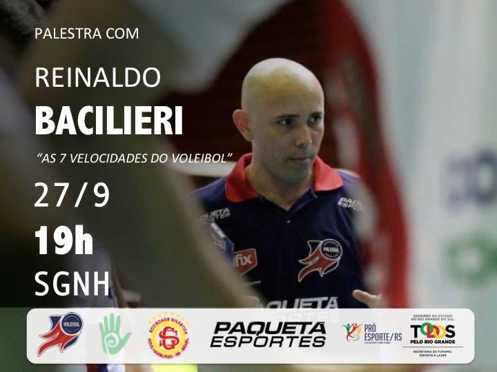 Voleisul/Paquetá Esportes promove palestra com o treinador Reinaldo Bacilieri
