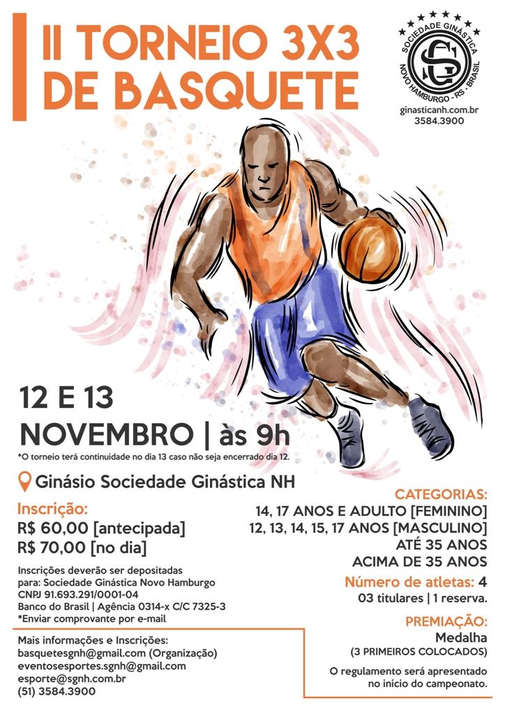 Novembro tem Torneio 3×3 de Basquete