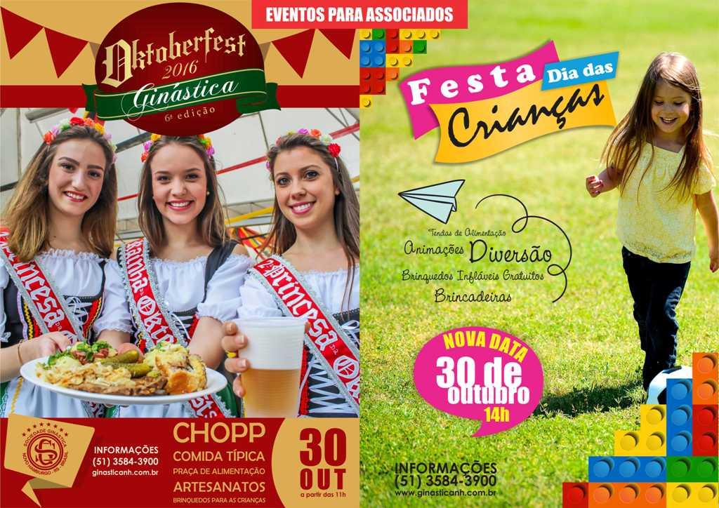 Oktorberfest e Festa Dia das Crianças animam a Ginástica no domingo