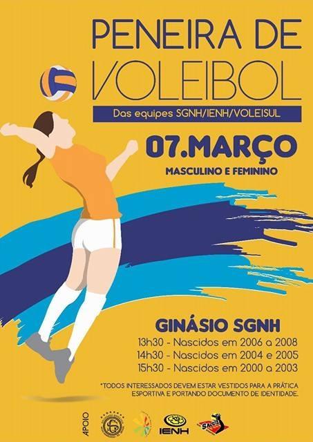 Equipe SGNH/IENH promove nova peneira de voleibol