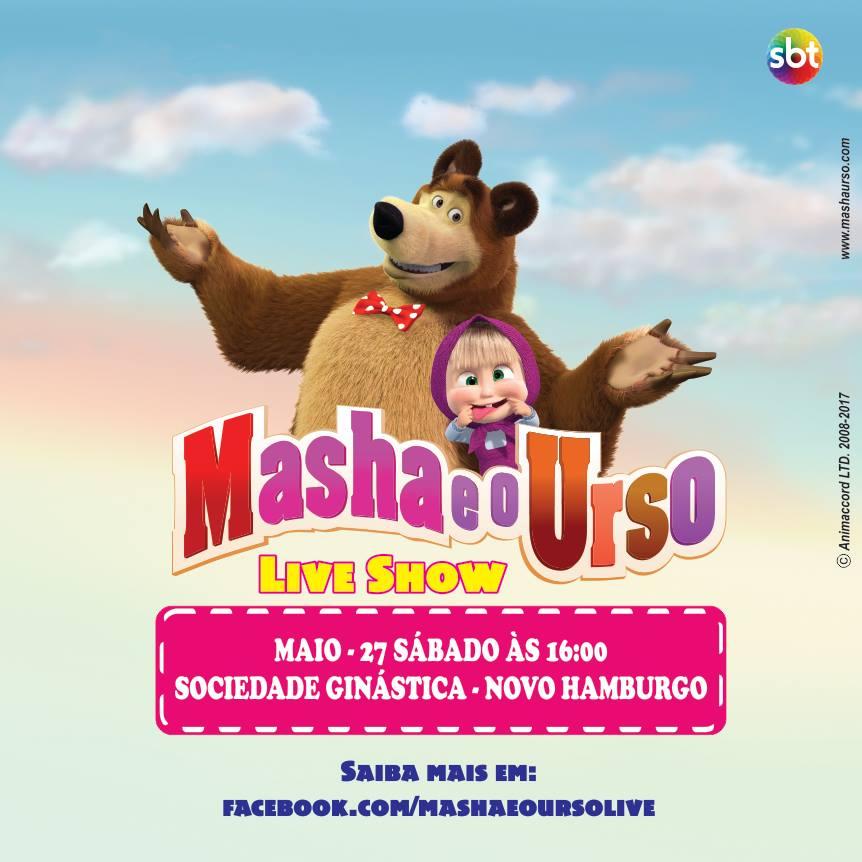 Masha e o Urso – Live Show – na Ginástica