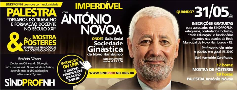 António Nóvoa faz palestra na Ginástica