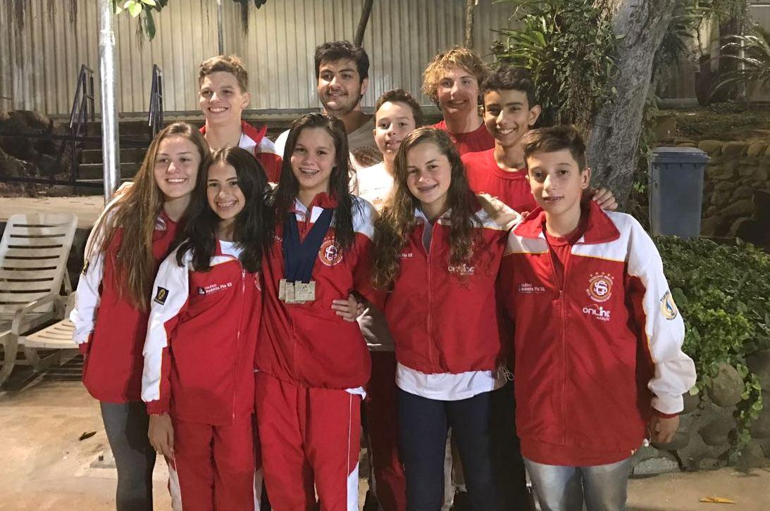 Ginástica/Pio XII traz medalhas e é destaque no Sul Brasileiro de Natação