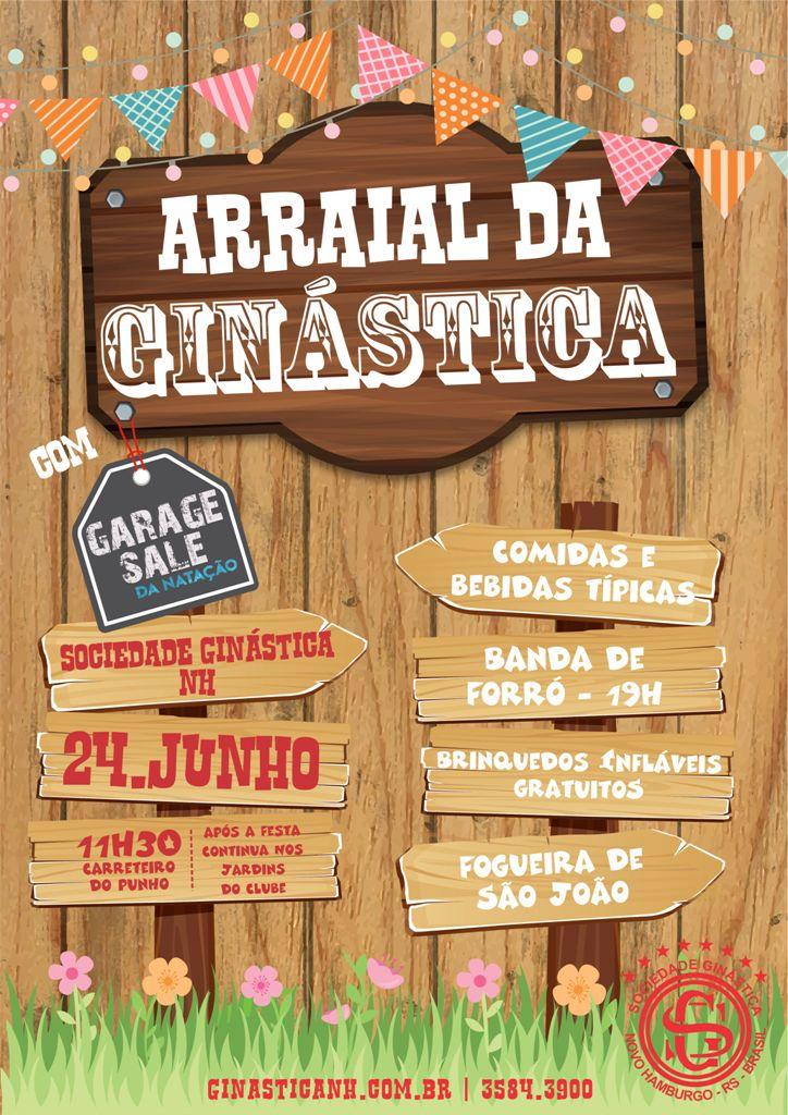 Uai sô, 24 de junho tem Arraial na Ginástica!!!