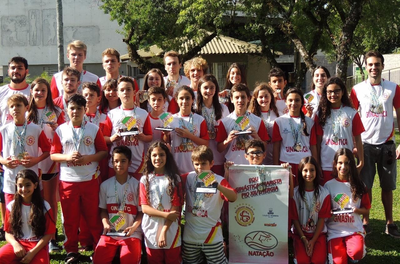 Natação da Ginástica traz medalhas do Estadual de Inverno