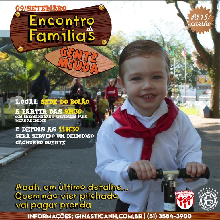 Gente Miúda promove Encontro de Famílias