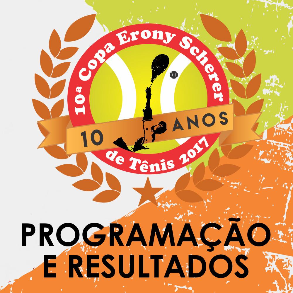 Resultados e Programação da Copa Erony Scherer de Tênis