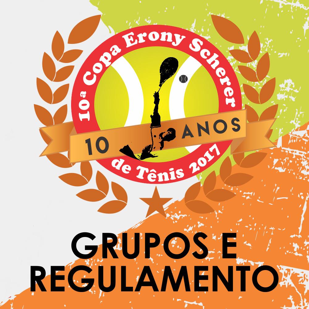 Grupos e Regulamento Copa Erony Scherer de Tênis