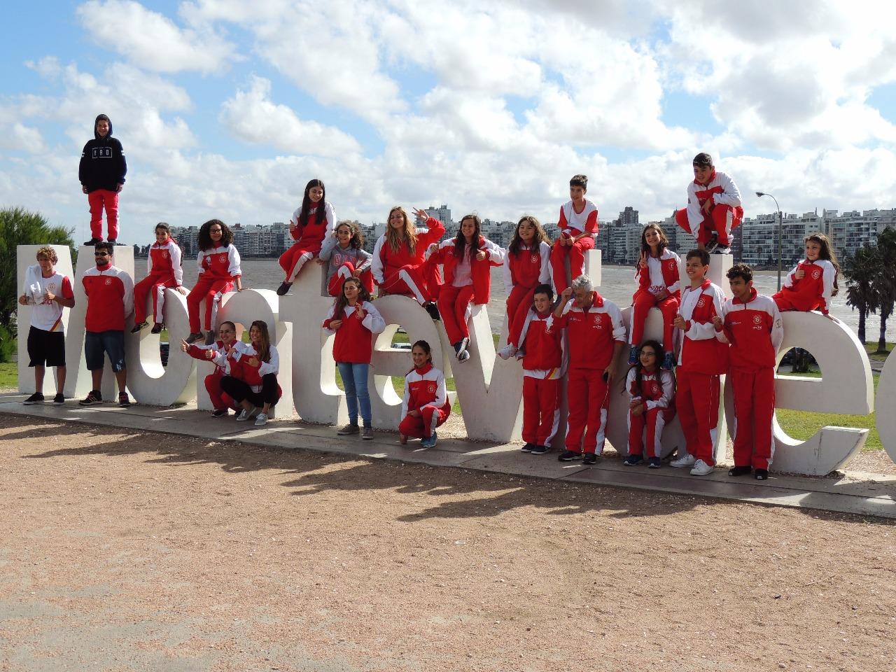 Natação da Ginástica/Pio XII participa de campeonato no Uruguai