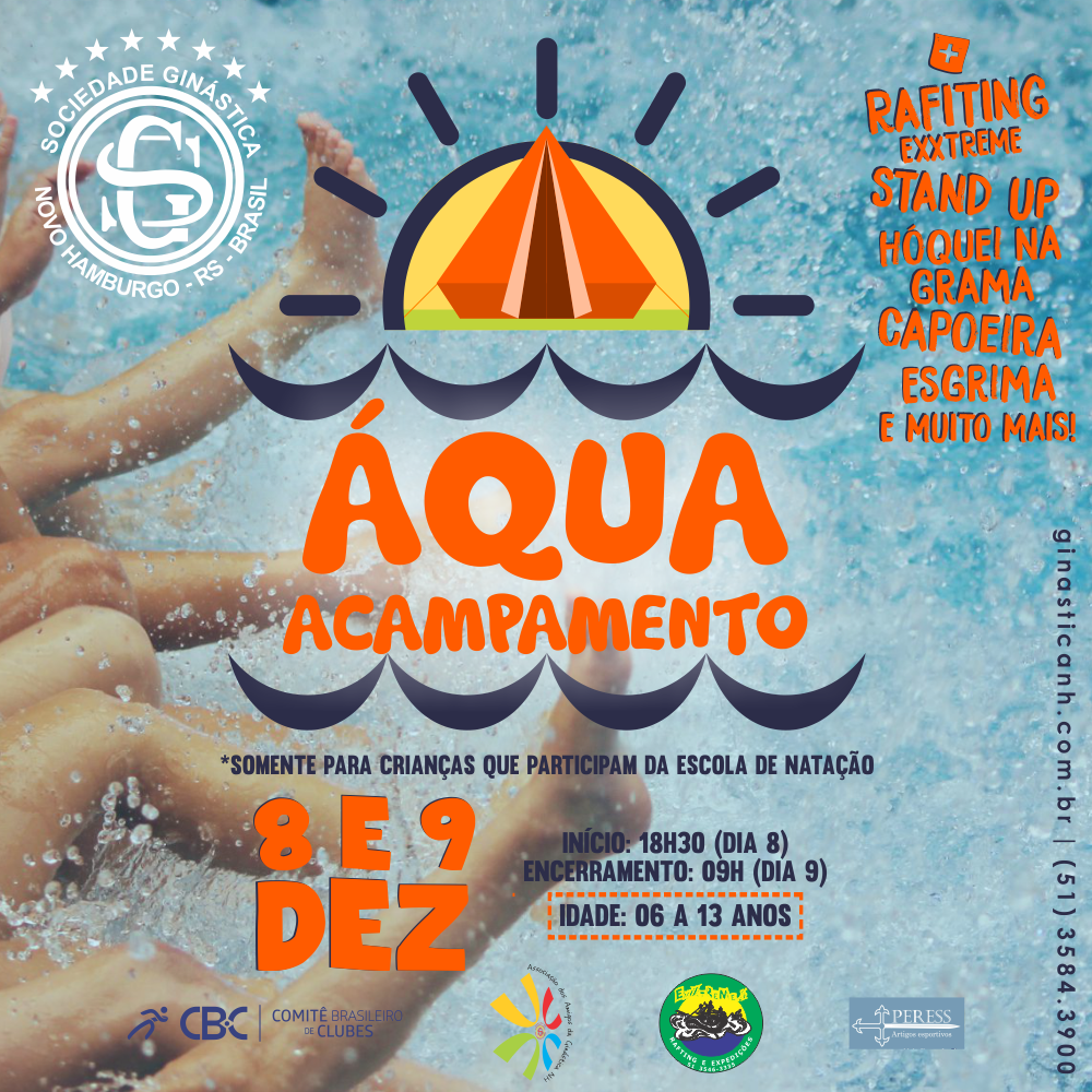 Aqua Acampamento promete diversão aos alunos da natação