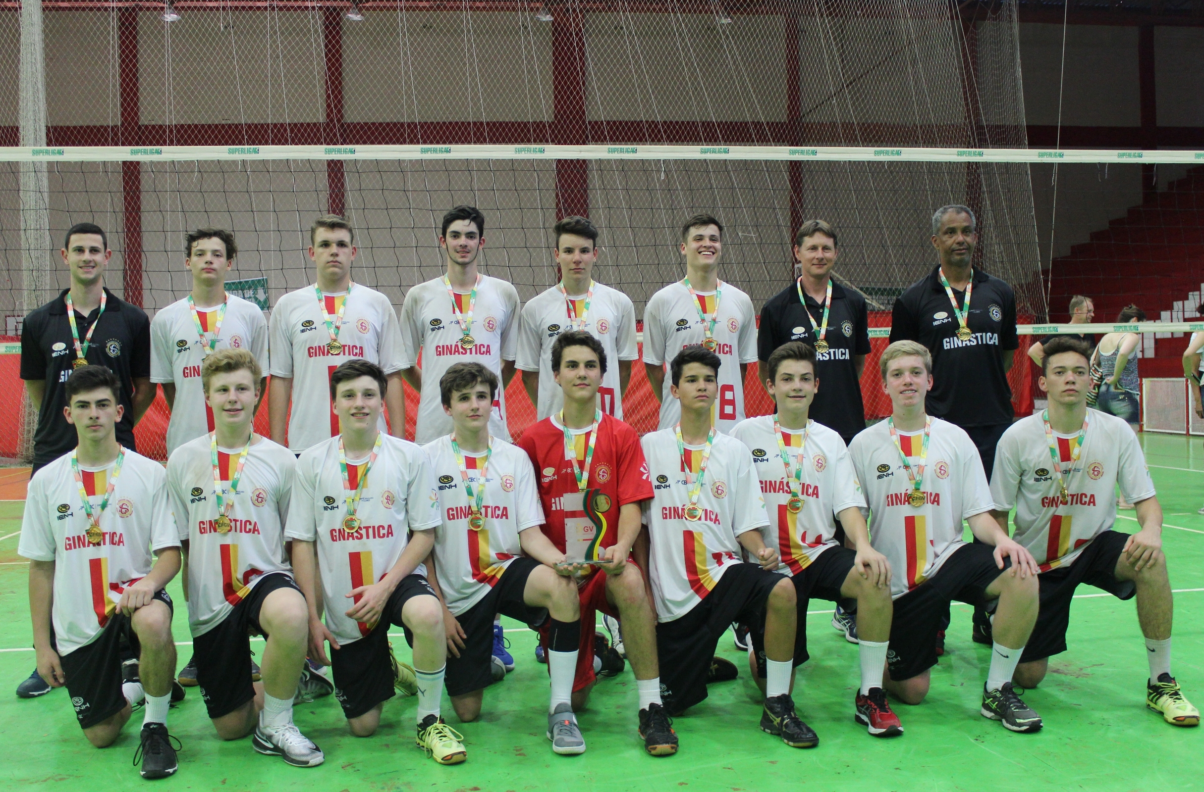 Equipe Ginástica/IENH é bicampeã no Estadual de Voleibol