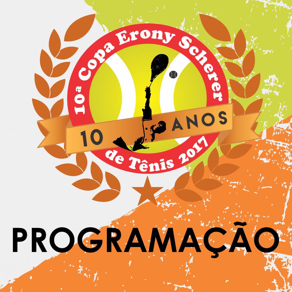 Programação da 10ª Copa Erony Scherer de Tênis