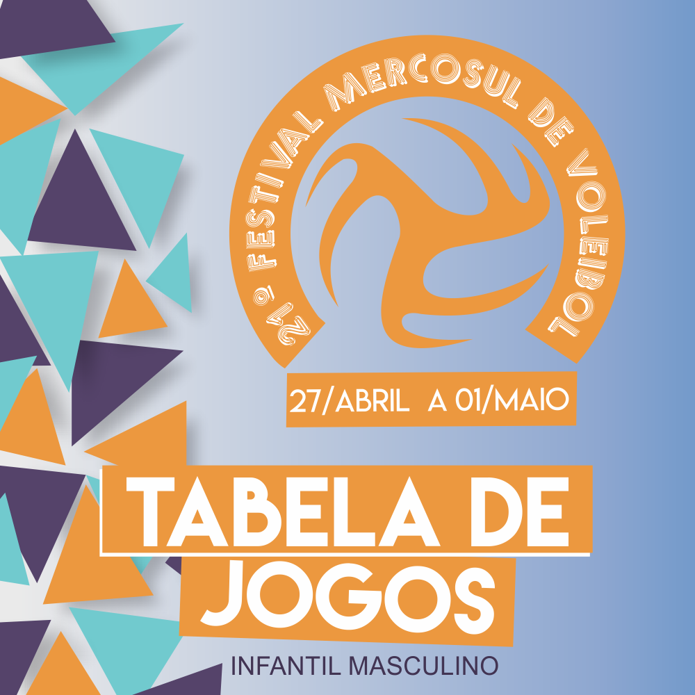 Tabela de jogos do 21º festival Mercosul de Voleibol – INFANTIL MASCULINO