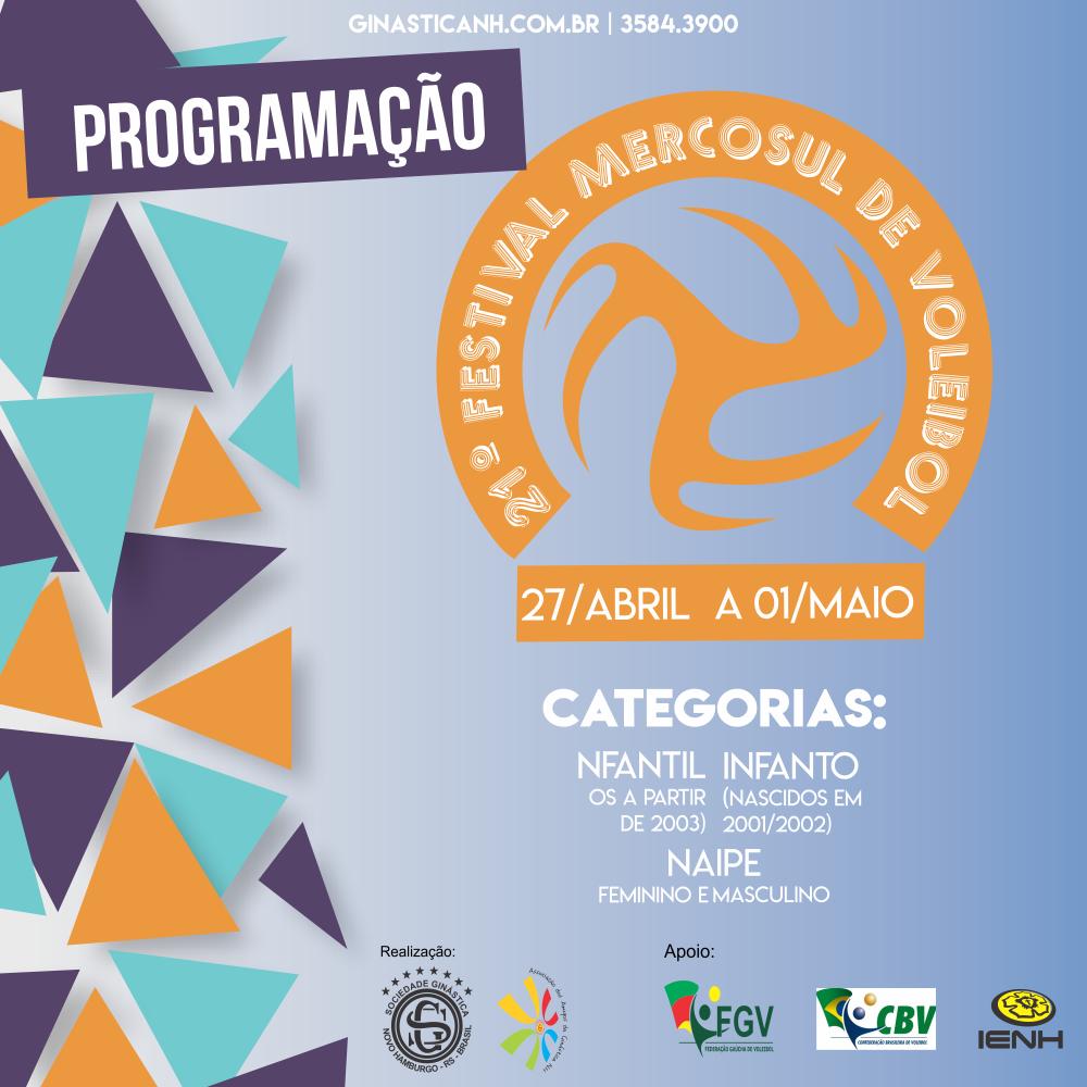 Confira a Programação do Mercosul de Voleibol
