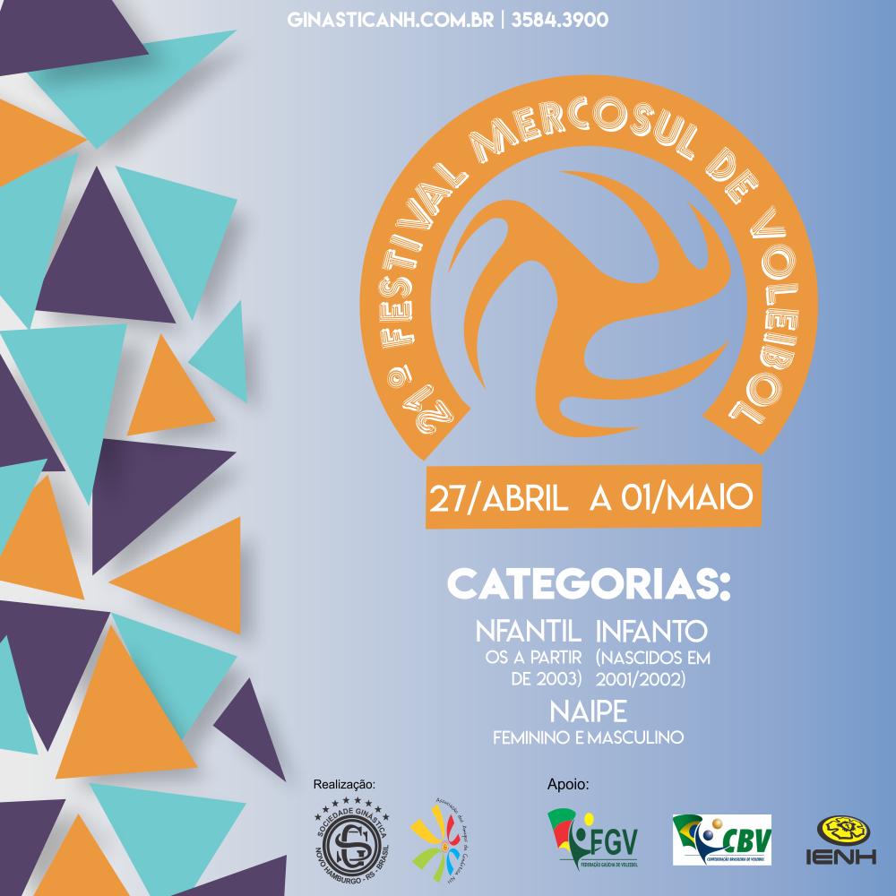Festival Mercosul de Voleibol promete grandes disputas na Ginástica