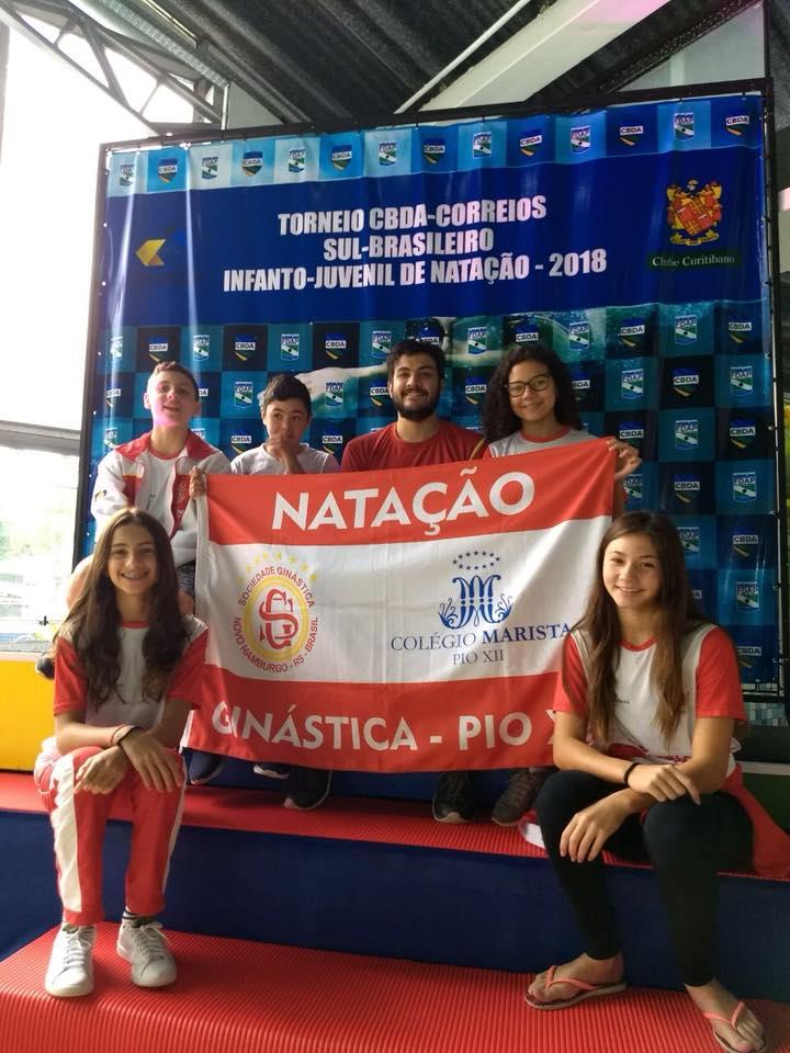Ginástica/PioXII compete no Sulbrasileiro de Natação