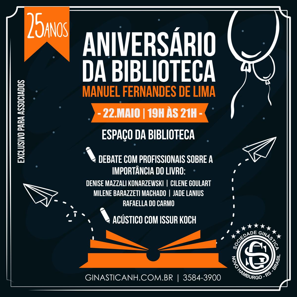 Biblioteca da Ginástica comemora 25 anos