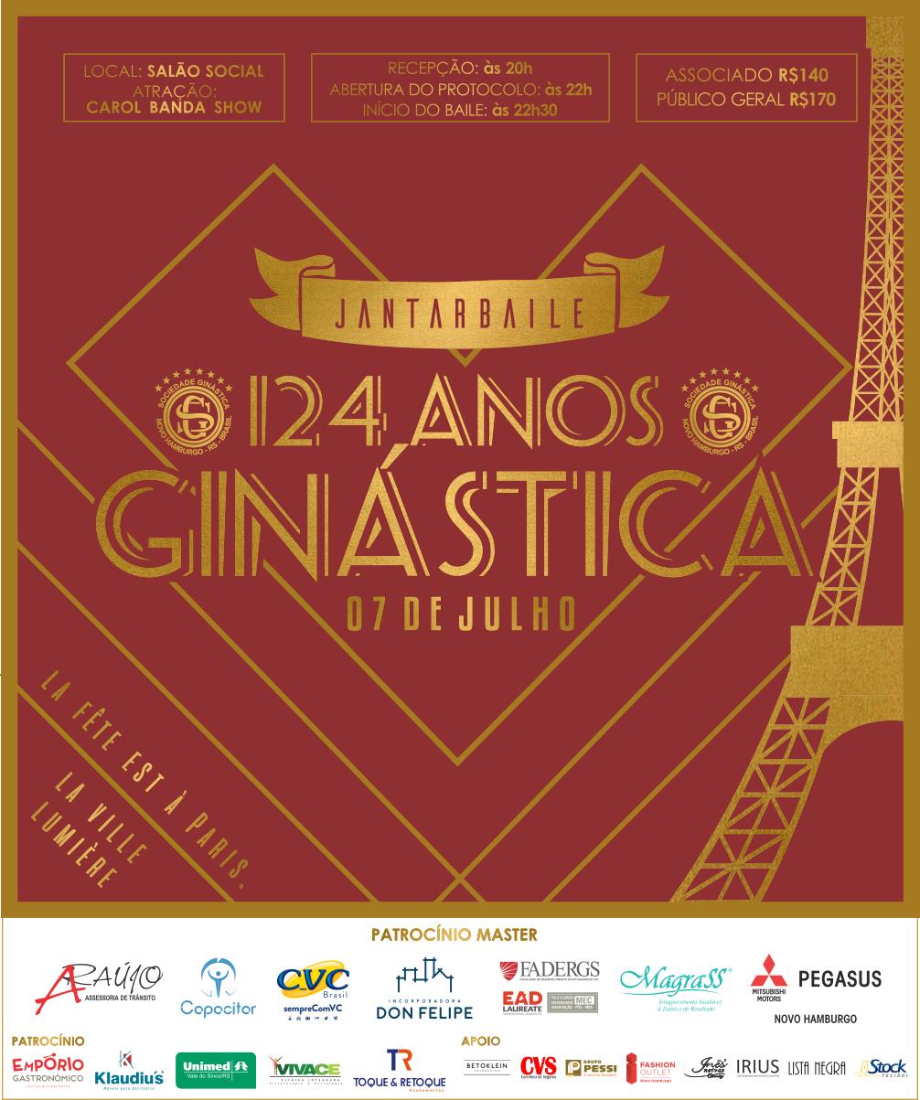 Uma grande festa para comemorar os 124 anos da Ginástica