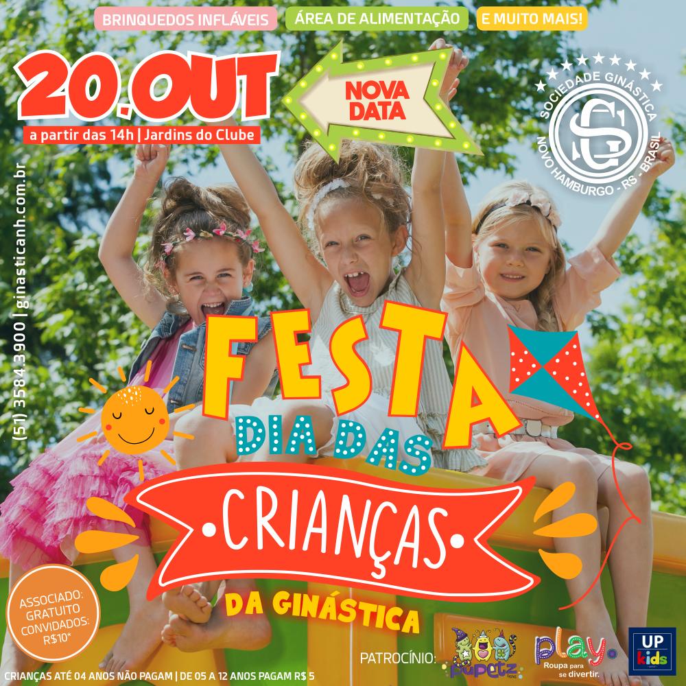 Festa Dia das Crianças na Ginástica será no dia 20 de outubro