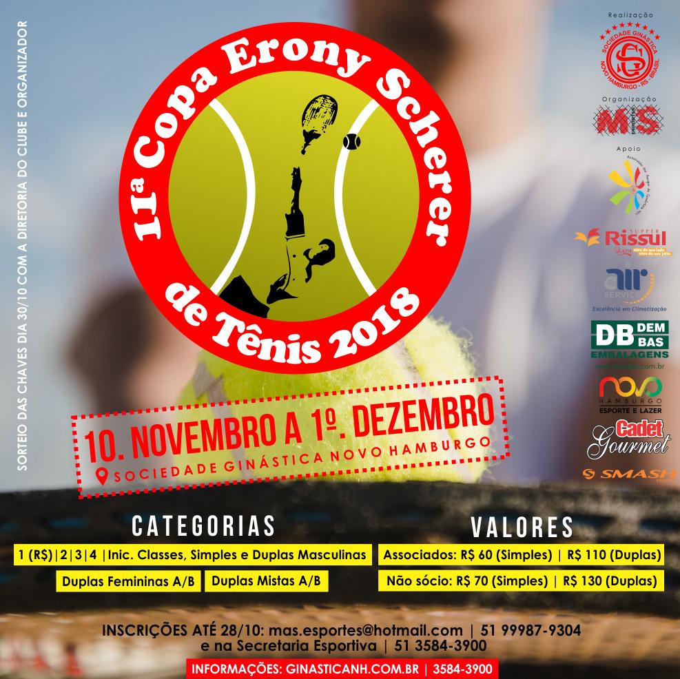Copa Erony Scherer de Tênis chega a 11ª edição