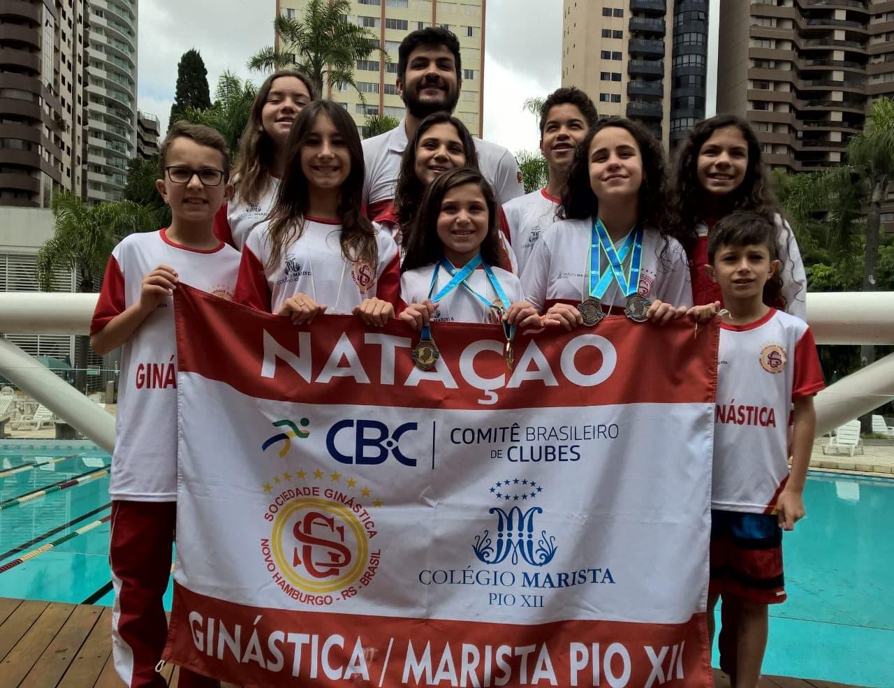 Ginástica/Pio XII traz medalhas de Sul Brasileiro de Natação