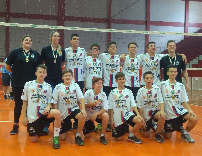 Ginástica/IENH conquista títulos no Estadual de Voleibol
