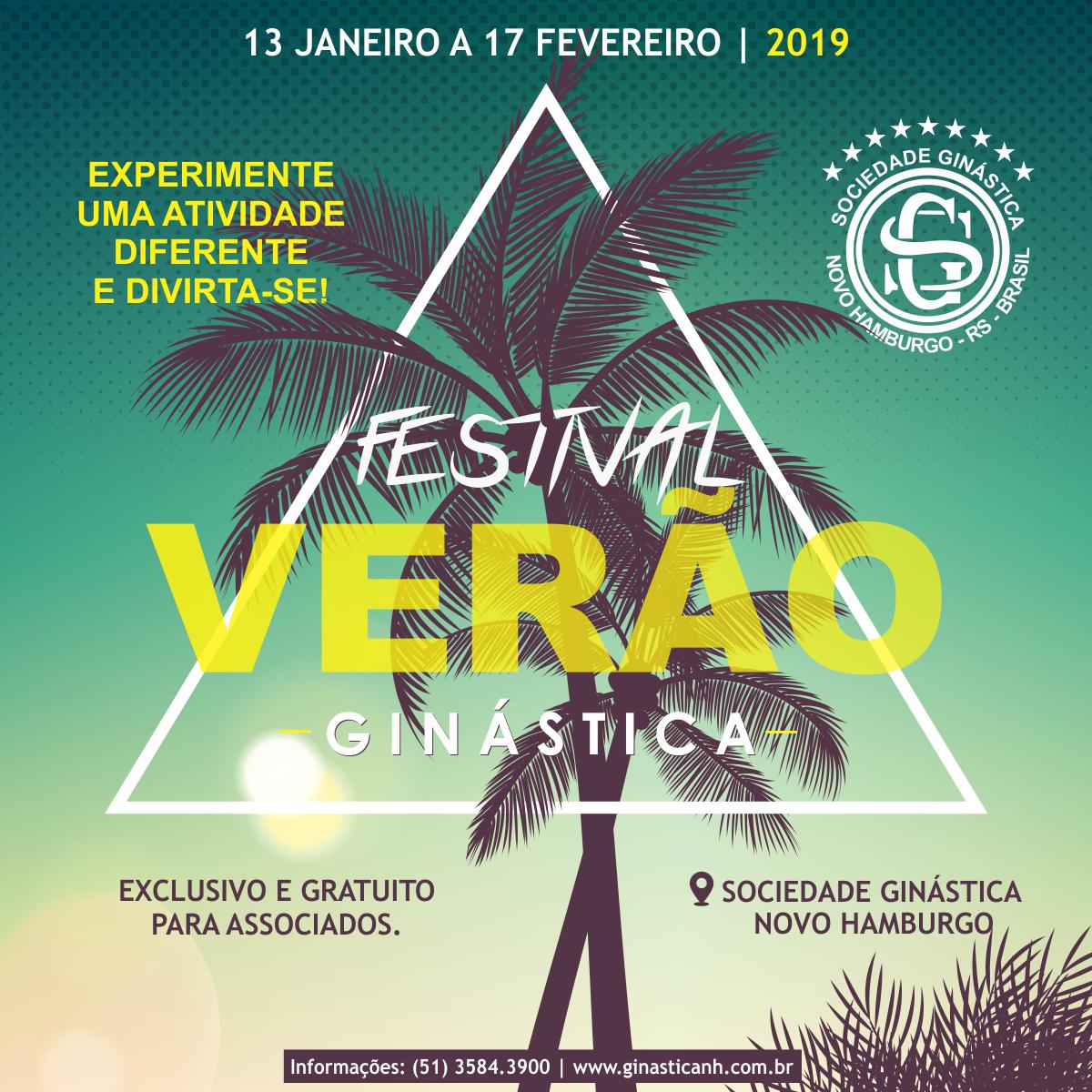Festival Verão Ginástica promete divertir associados nas férias