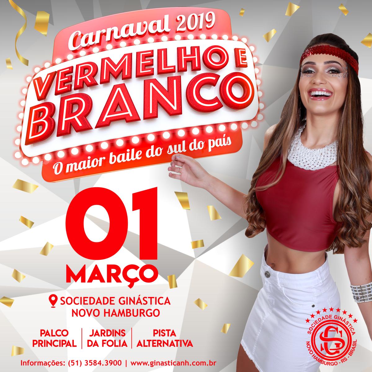 Vermelho e Branco 2019: o maior baile de carnaval do sul do país