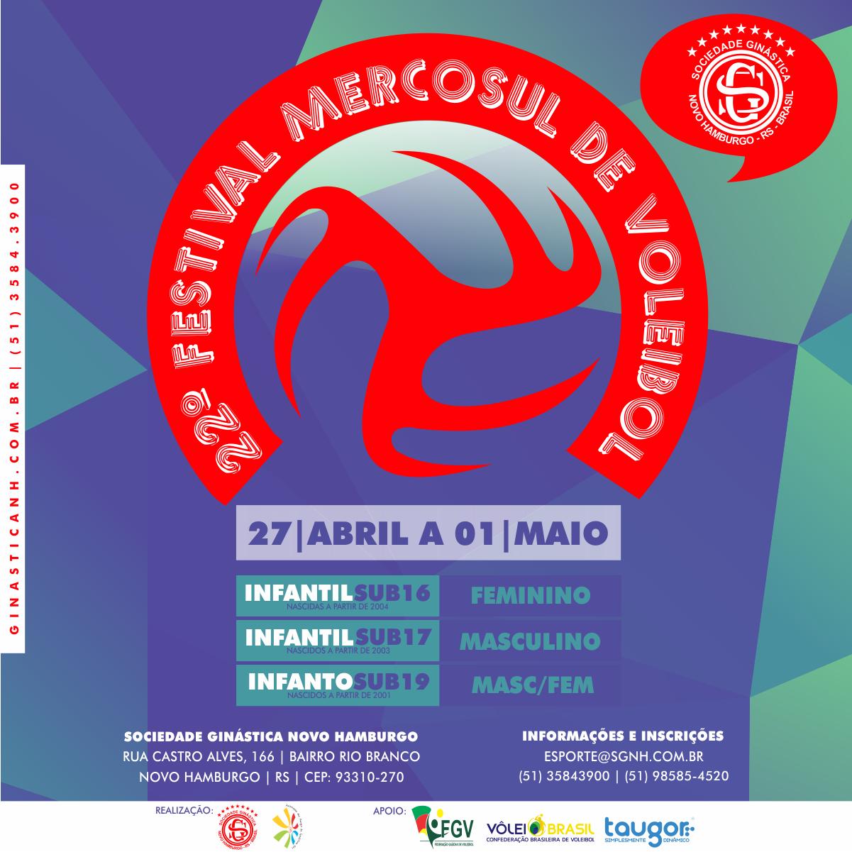 Ginástica sedia a 22ª edição do Mercosul de Vôlei