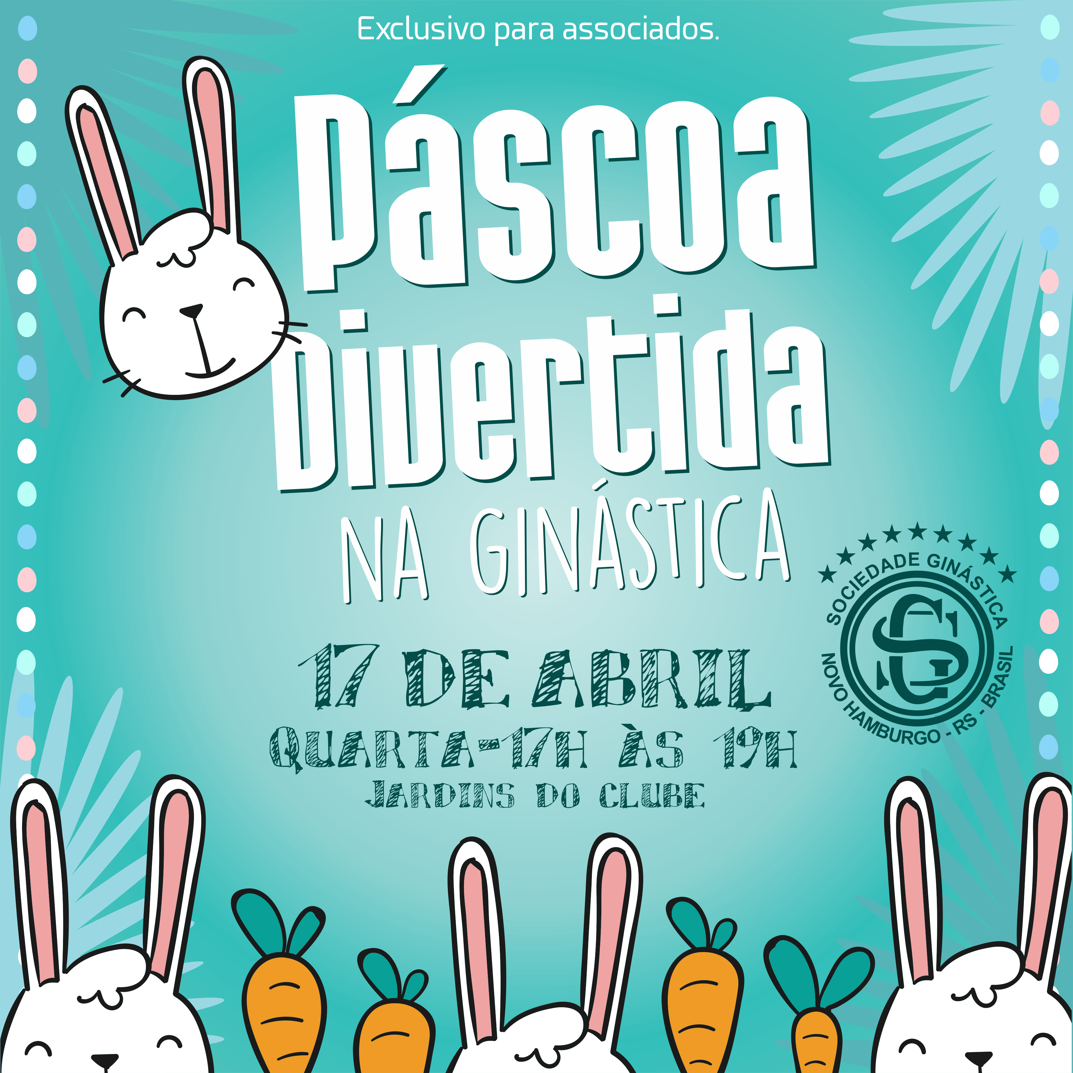 Ginástica tem evento de Páscoa especial para crianças